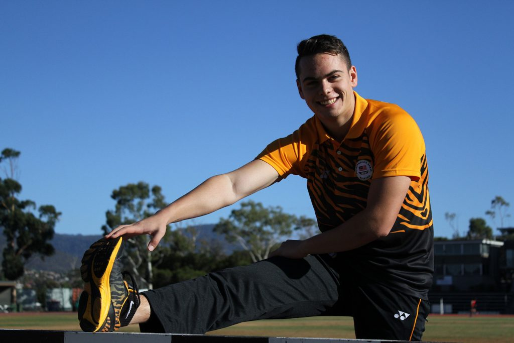 Russel Taib relaxing during training, photo credit: Lilly Castle